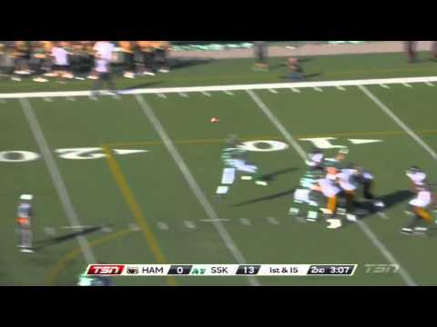Henry Burris 31 yard pass to Bakari Grant - July 21, 2013