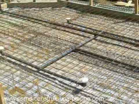 Construccion de la piscina parte 1 youtube for Como construir estanques para peces