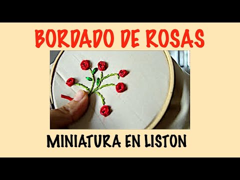 BORDADO DE ROSAS EN LISTON