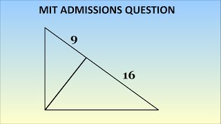 Can You Solve This MIT Admissions Question? Geometry Problem, 1869