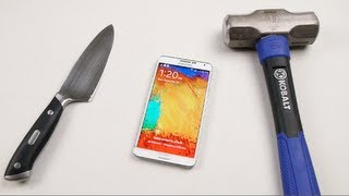 Samsung Galaxy Note 3 Hammer & Knife Test