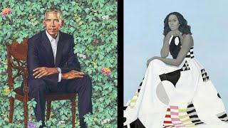 Unique portraits of Obamas unveiled