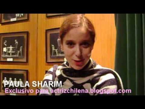 Paula Sharim saluda al blog Actriz Chilena