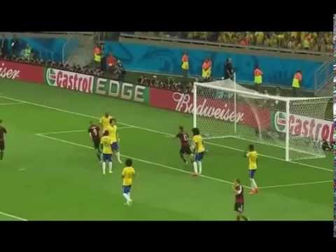 Brasil vs Jerman 1 - 7 All Gol Semifinal FIFA World Cup 2014