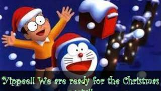 Cartoon Doraemon Celebrates Christmas