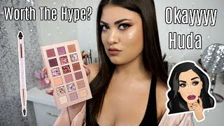 Huda Beauty The NEW NUDE Palette 🎀 Review, Swatches & Tutorial!