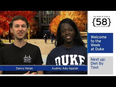 The Week at Duke {in 60 Seconds}: Diet by Text; HackDuke; 'Messiah' Concert