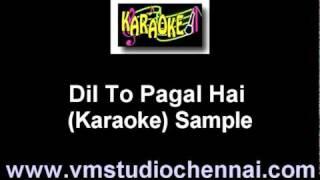 Hindi Karaoke Dil To Pagal Hai