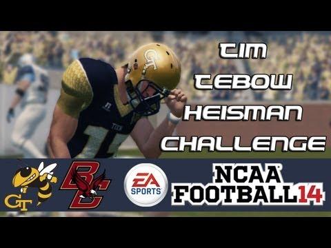 NCAA Football 14 Heisman Challenge Mode: Tim Tebow EP13 - BCS on The Line (ACC Championship vs. BC)