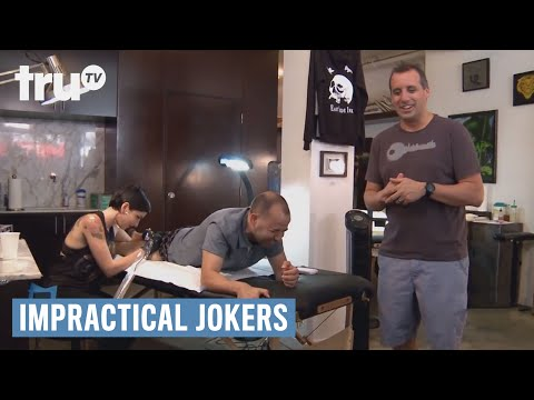 Impractical jokers three jokers get inked punishment for Impractical jokers tattoos real