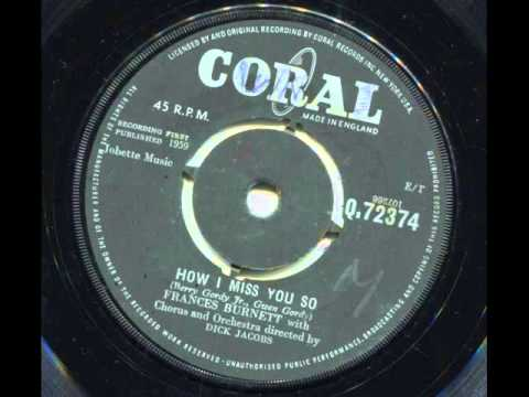 Thumbnail of video FRANCES BURNETT - How i miss you so - CORAL