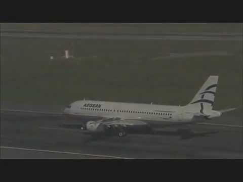 Aegean A320 air rushes