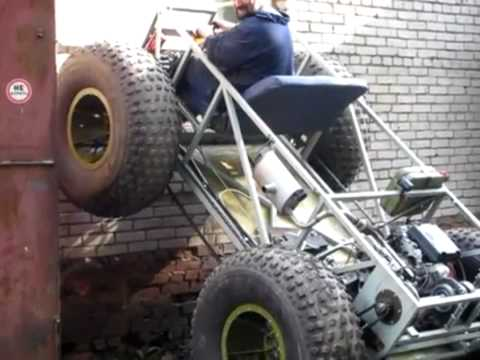 Russian ATV Climbs Wall