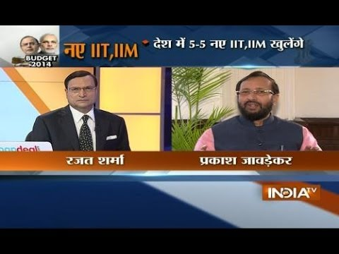 IB Minister Prakash Javadekar speaks with India TV exclusively on Budget