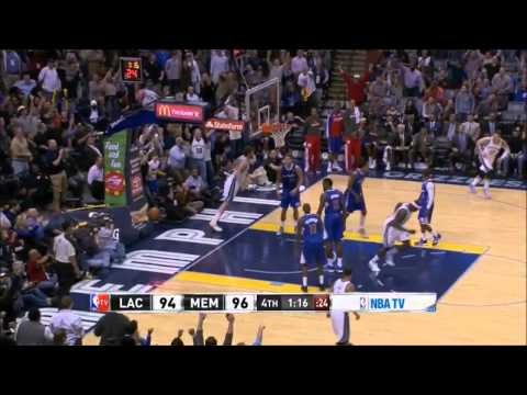 Marc Gasol dunks it throw using help from Mike Conley's pass - Clippers @ Grizzlies 21-2-14