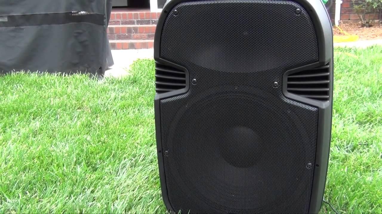 Pyle Pro 15 Inch Watt Portable Powered Pa Speaker Youtube