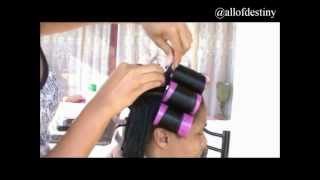 How I Roller Set Relaxed Hair [part 1 Of 2]