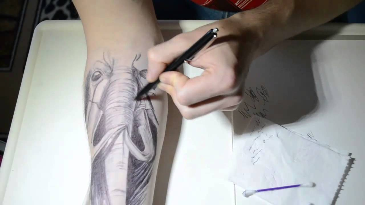 Ballpoint pen tattoo xd youtube for Tattoo with pen