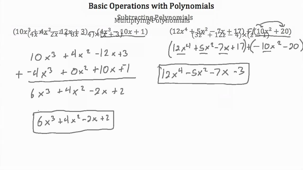 worksheet Operations With Polynomials Worksheet homework help subtracting polynomials the chrysanthemums essay higher degree polynomial function