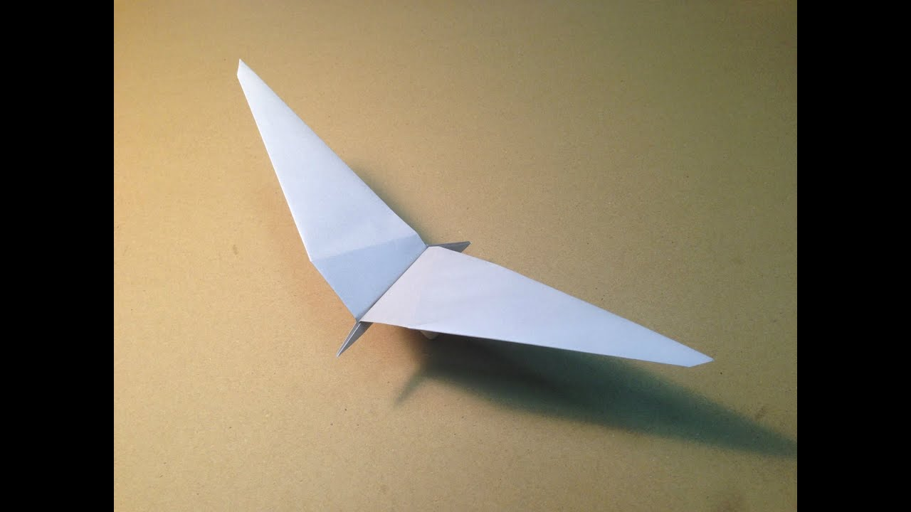 how to make a paper plane origami bird common gull