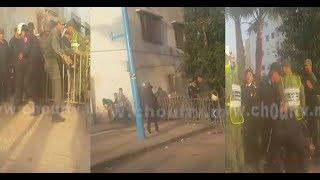 بالفيديو.. فوضى عارمة وتعرض رجل أمن لإصابة متفاوتة الخطورة دقائق قبل مباراة الرجاء و الجيش   