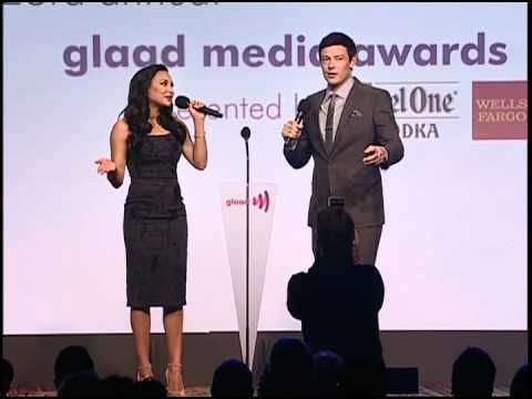 Watch as Naya Rivera and Cory Monteith of Glee Open Up with Award Ceremonies of GLAAD