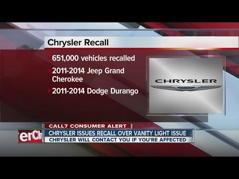 Chrysler recalls 651K Jeep, Dodge SUVs for mirror lights