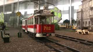 Straßenbahn Modellbahn von Martin Metz im Verkehrsmuseum Dresden
