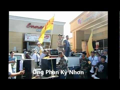 Biểu tình chống văn công Việt cộng tại Orange County. 16-9-2012