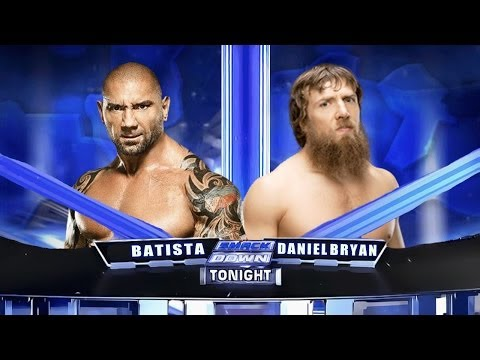 WWE Smackdown 2014 - Batista vs Daniel Bryan - Match HD