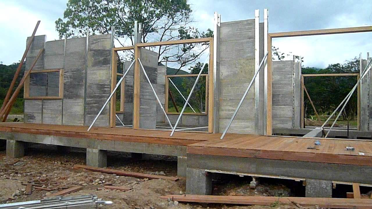 Levantamiento paredes casa prefabricada youtube - Construir casa prefabricada ...