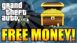 "GTA 5 - How To Get Free Money! + ""SECRET TREASURE"" Underwater Airplane Easter Egg Location! (GTA V)"