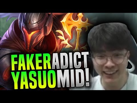 Faker is Addicted to Yasuo! - SKT T1 Faker Picks Yasuo Mid with New Keystone! | SKT T1 Replays