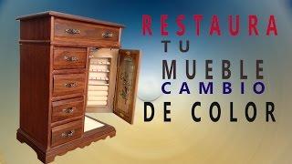 Restaurar un mueble de madera