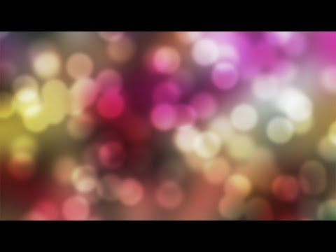 Photoshop Tutorial: BOKEH! How to Make a Bokeh Background & Text Effect