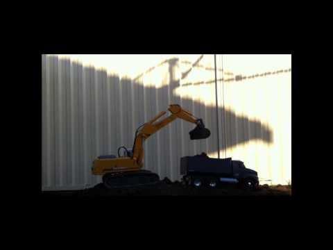 Liebherr 944b Premacon Excavator and Tamiya Tractor Truck 6x6 Tipper