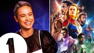 """Hi, I'm new!"" Captain Marvel's Brie Larson on joining The Avengers WhatsApp group (or not)."