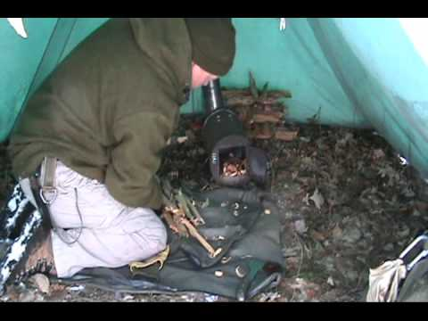 Winter Tent And Homemade Stove Youtube