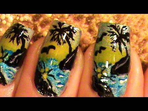 Nail Art Designs Short Nails How To With Cute Fan Brush Art Design