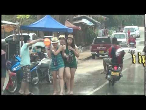 Té nước rửa sạch bụi trần - Tết Lào p3 by ddhung