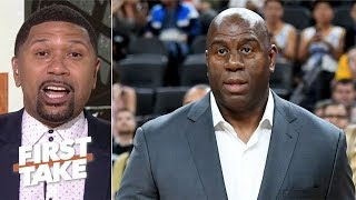 Magic Johnson left Lakers because 'he wasn't able to finish the job' - Jalen Rose | First Take