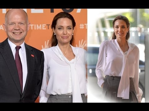 Angelina Jolie Joins Foreign Secretary William Hague for Day Two of Global Summit