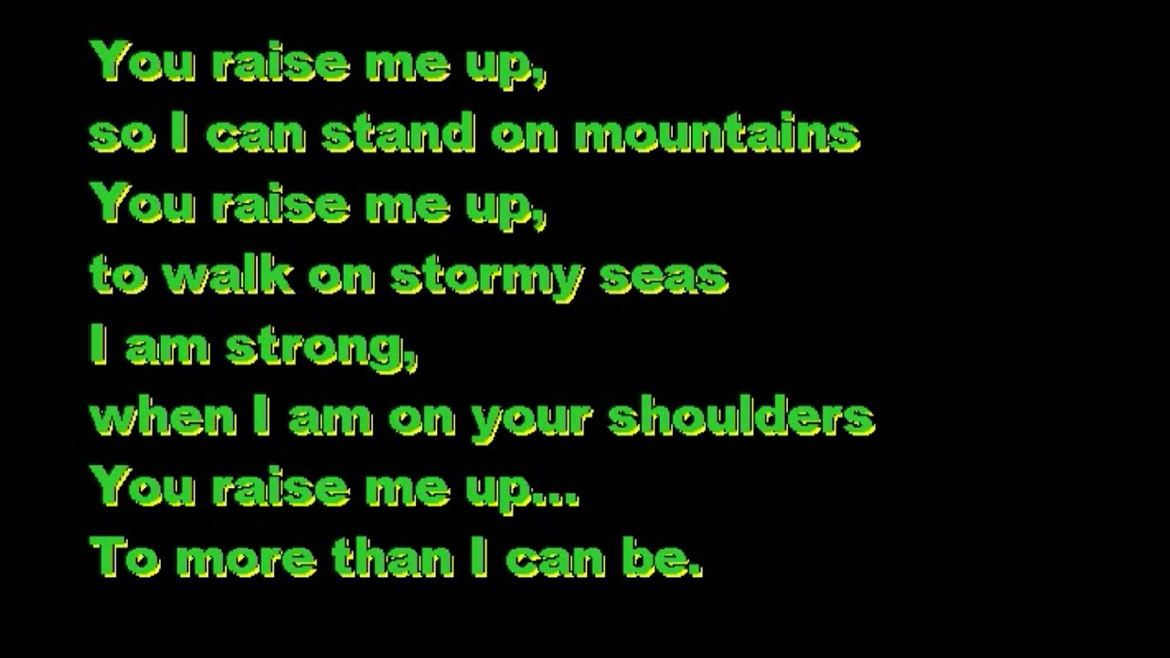how to sing you raise me up