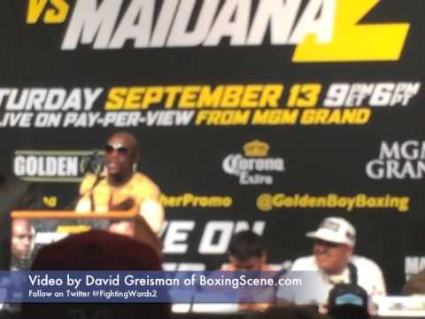 Floyd Mayweather Jr. and Robert Garcia go at each other