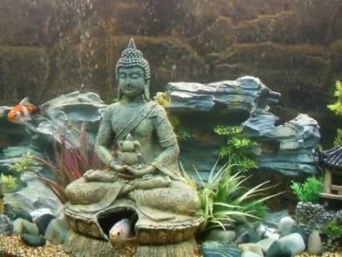Oriental aquascape aquarium youtube for Asian fish tank decorations