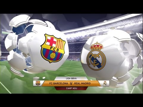 FIFA 14: FC Barcelona vs Real Madrid (Full Game)