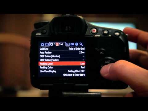 Sony Alpha 57 - (SLT-A57) - Menus and Basic Set-up Explained