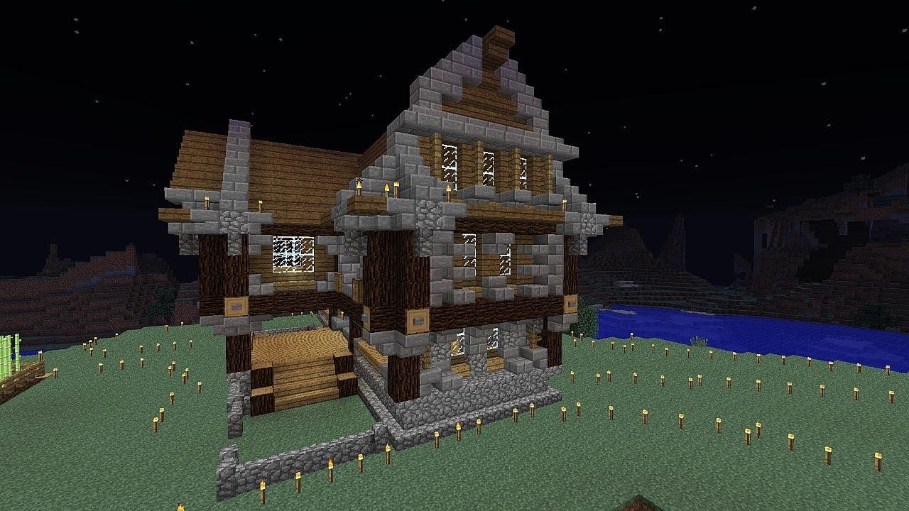 Minecraft survie et construction pisode 4 une maison riche youtube - Video minecraft maison ...