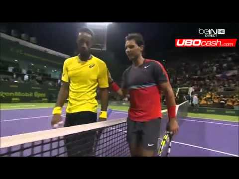 [Match Point Final 2014] Rafael Nadal Vs Gael Monfils Doha