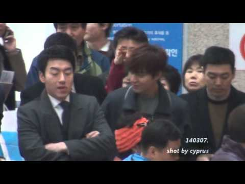 '140307. Lee Min Ho, 이민호, Incheon Airport